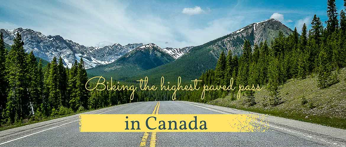 Biking the highest paved pass in Canada