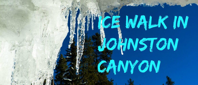 Ice walk in Johston Canyon