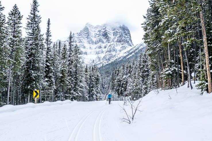 Cross country ski trails in the Canadian Rockies for all levels