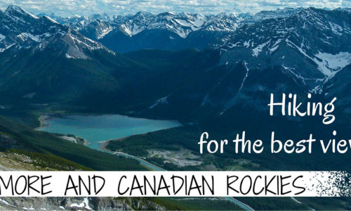 Hiking for the best views of Canmore and Canadian Rockies