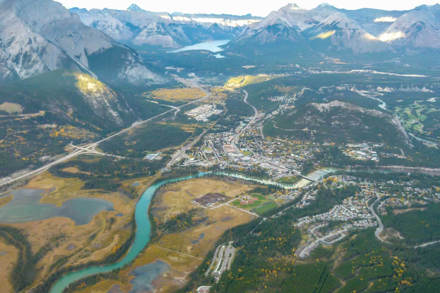 Canadian Rockies from above