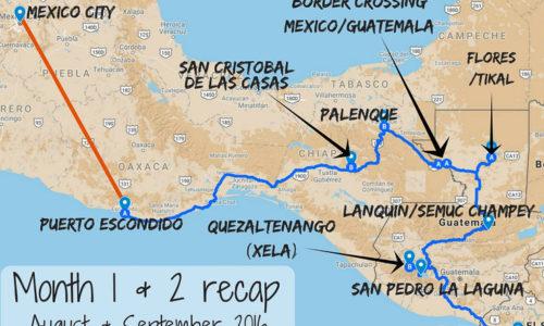 Month 1 & 2 recap of our RTW trip