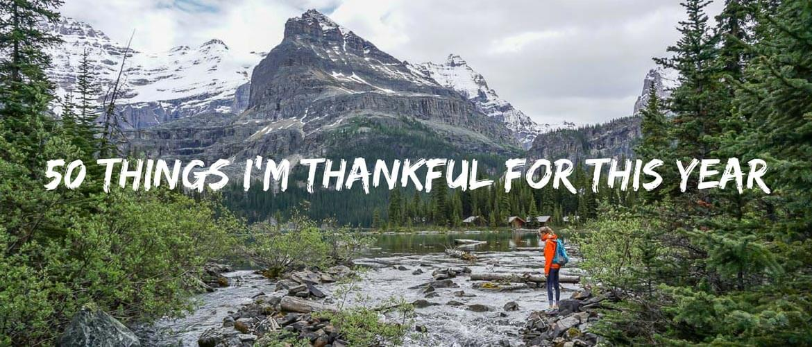 50 things I'm thankful for this year