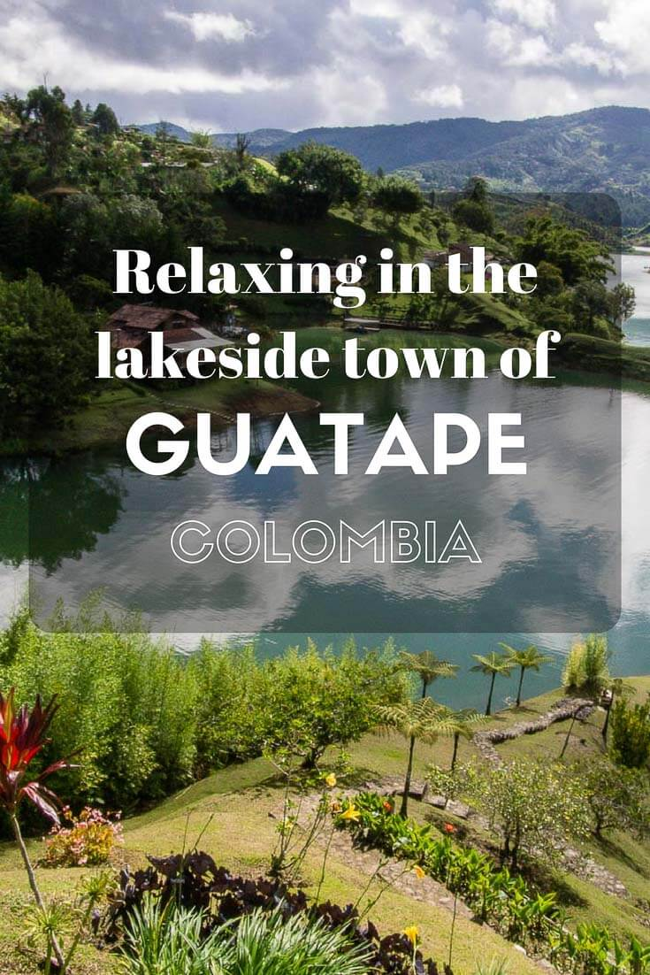 Relaxing in the lakeside town of Guatape, Colombia