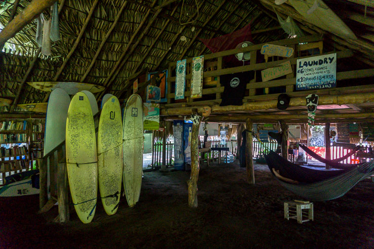 Surfing, beach run and turtles on Jiquilillo beach, Nicaragua