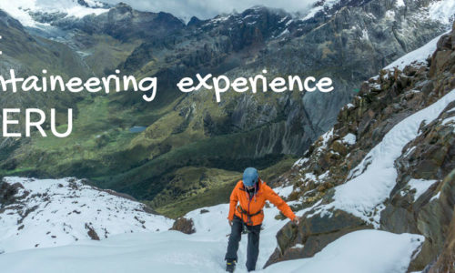First mountaineering experience in Peru